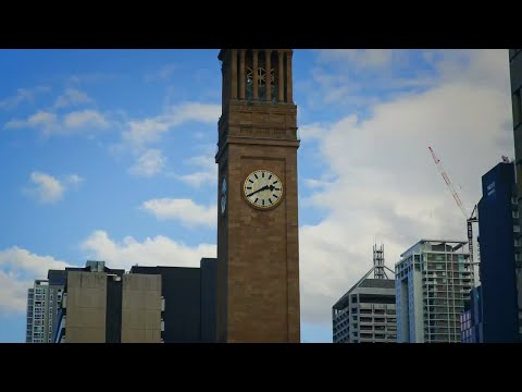 Clock Tower Museum Of Brisbane  Stock Video
