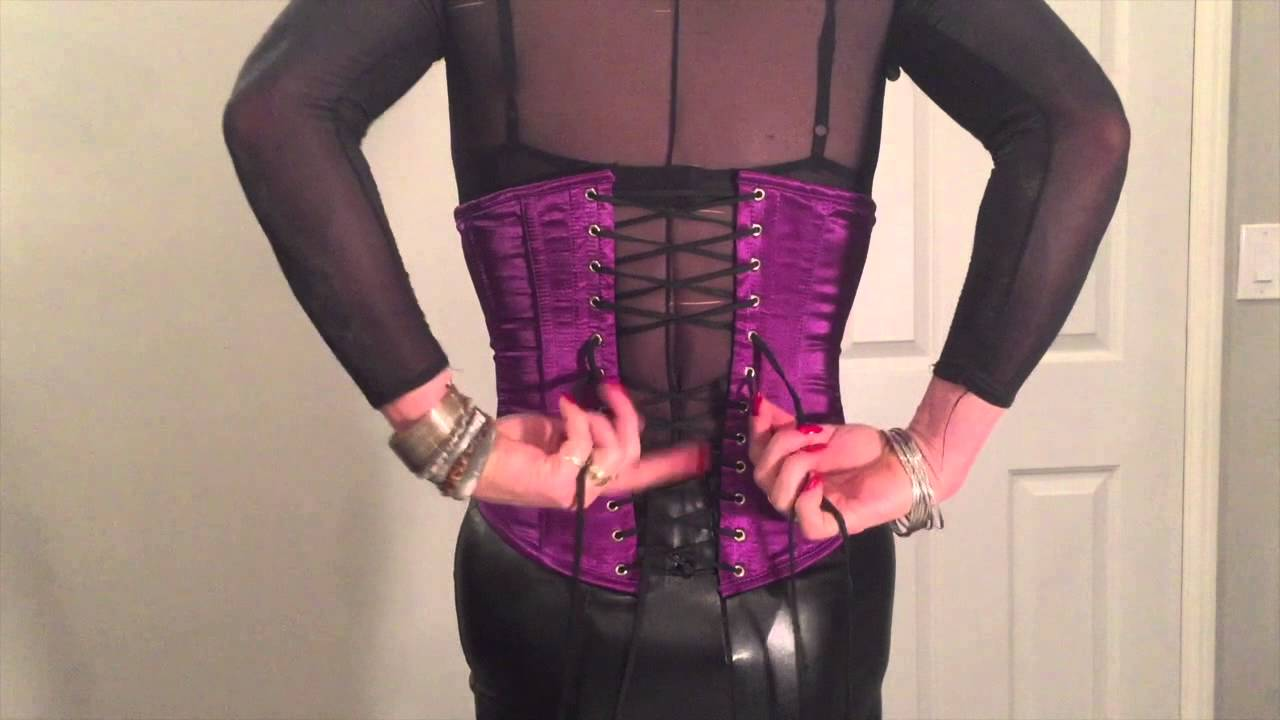 7de83837f8 How To Lace Yourself Into Your Crossdresser Corset