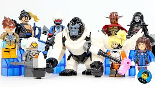 Overwatch plus Winston BigFig Unofficial LEGO Minifigures
