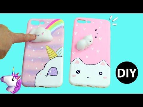 DIY Viral Squishy Phone Case 3D/Unicorn/Kawaii Cat Tutorial by Creative World