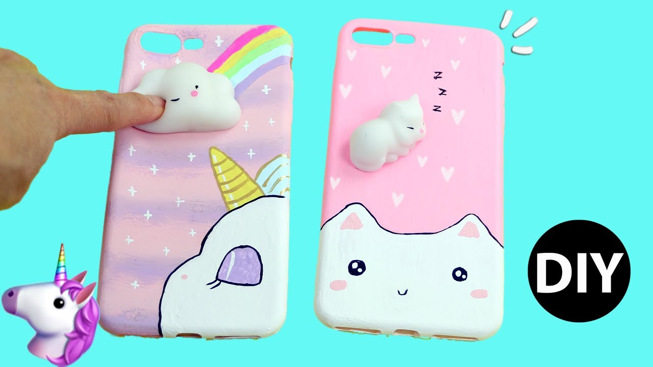separation shoes 0651b 50415 DIY Viral Squishy Phone Case 3D/Unicorn/Kawaii Cat Tutorial by Creative  World