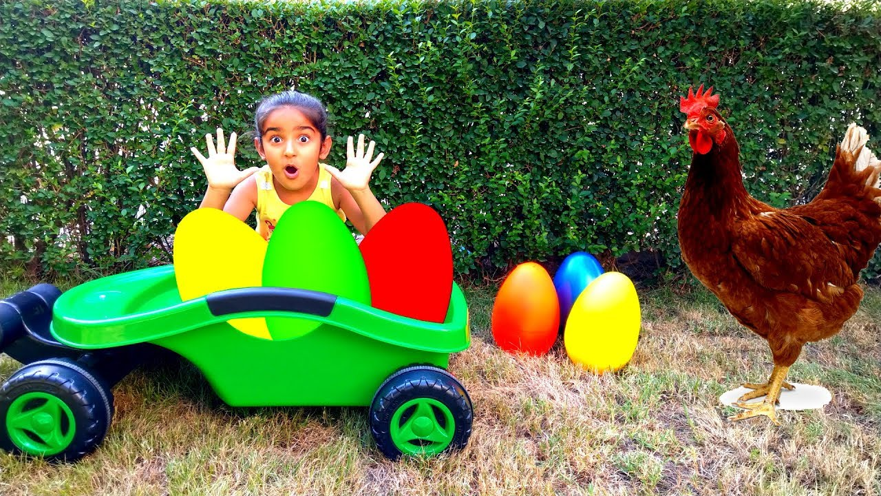 Esma Surprise egg find play with for kids video