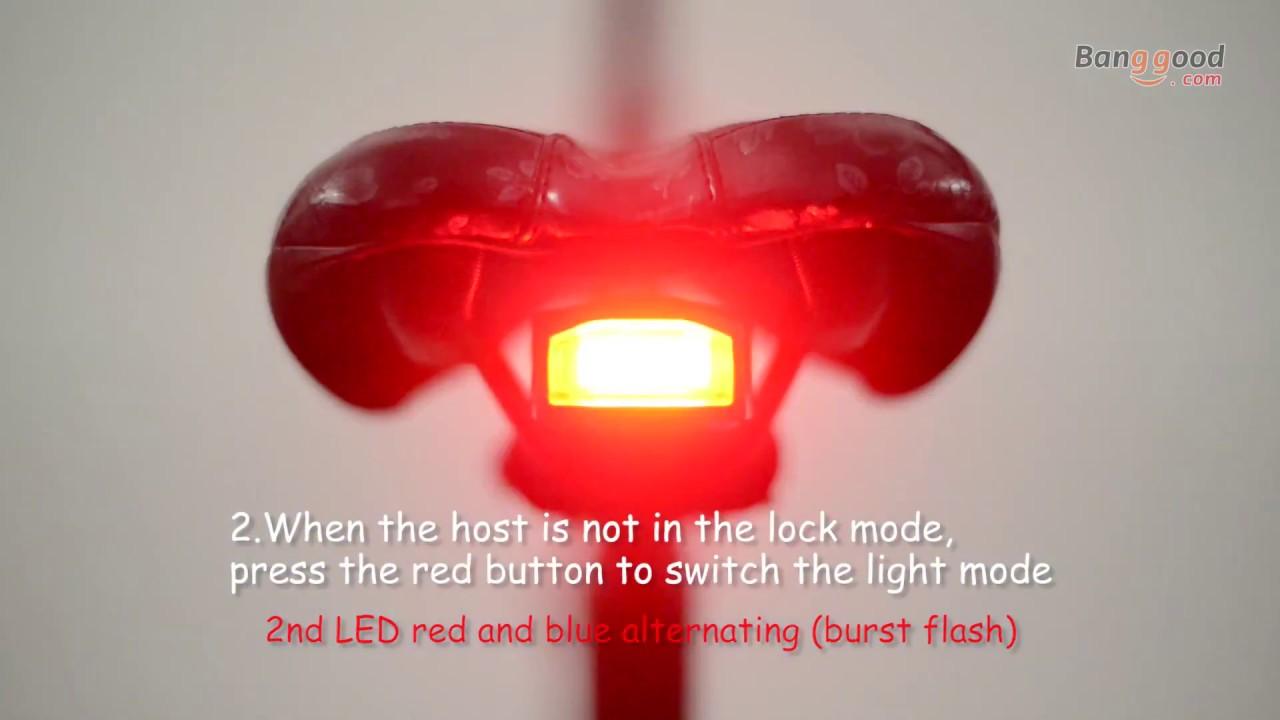 Antusi A4 Bicycle Wireless Brake Alarm Anti Theft Rear Light Youtube
