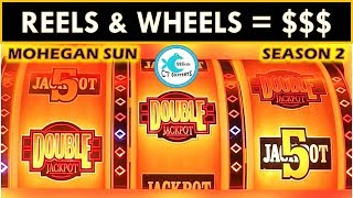 Gambar cover REEL WINS @ MOHEGAN SUN! WHEEL OF FORTUNE SLOT MACHINE, DOUBLE JACKPOT GOLD WINNERS SLOT