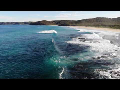 Newcastle waterfront drone footage.