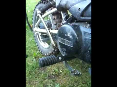 Pw80 over oiled, rich, no power, exhaust, carb, fuel, probl - YouTube