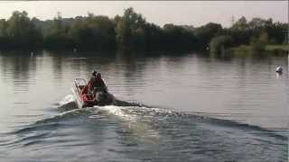 Zego boating at Grendon Lakes, Northamptonshire