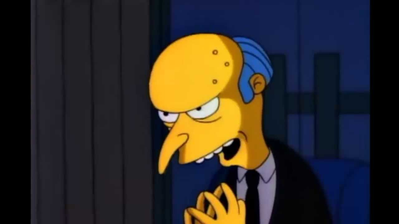 How To Make A Gif A Live Wallpaper Iphone The Simpsons Mr Burns Says Excellent Catch Phrase
