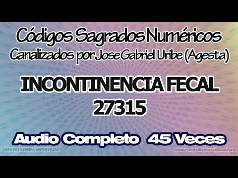 INCONTINENCIA FECAL CODIGOS SAGRADOS NUMERICOS 27315.