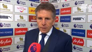 """""""Players enjoyed the game""""-Claude Puel post match interview