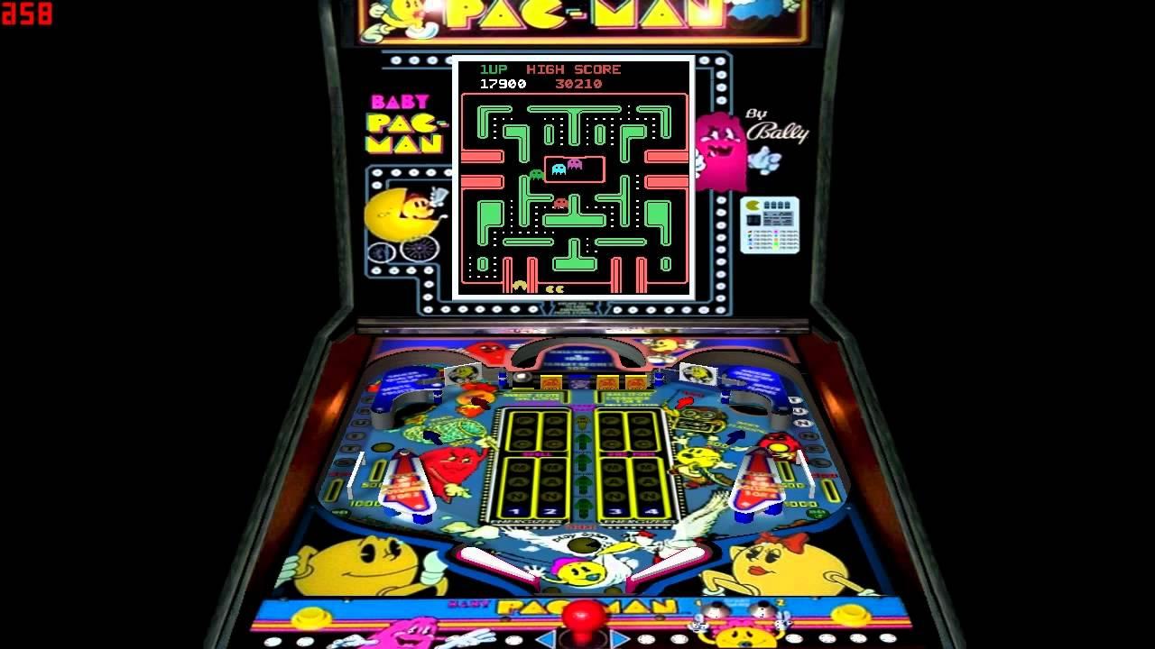 Baby Pac Man Pinball Game 1982 Midway Youtube
