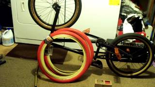 New Tires (Odyssey Aaron Ross Tires Red with Tan Sidewalls) New Grips (Cult Vans Grips in Red)