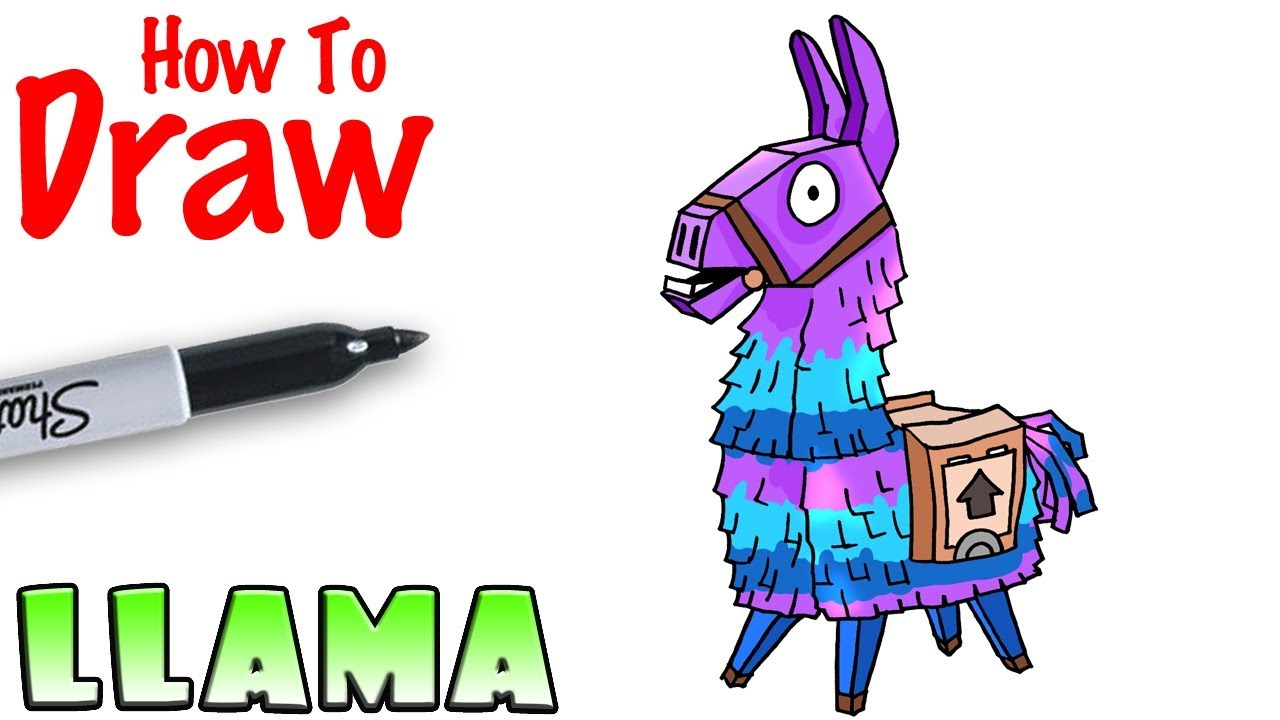 How To Draw The Llama Fortnite Youtube