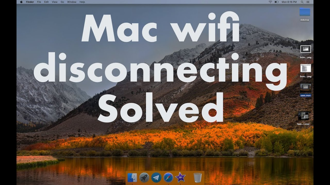 Macbook Pro keeps disconnecting from wifi SOLVED