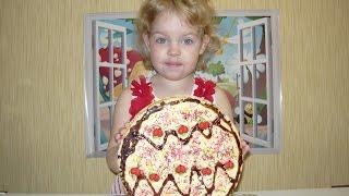 Пасхальные рецепты: готовим вафельный торт в виде пасхального яйца #kids