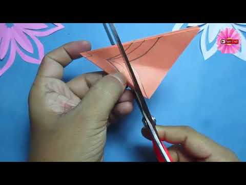 How to make simple & easy paper cutting flower designs  paper flower DIY Tutoria