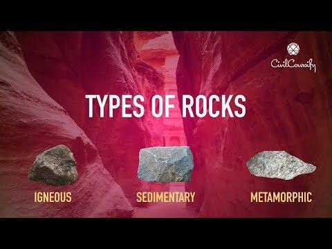TYPES OF ROCKS & their properties.