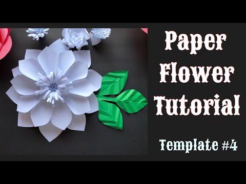 Paper Flower Tutorial - DIY - Template # 4