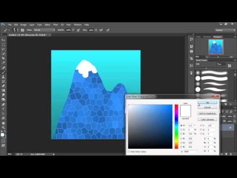 2D Game Art for Non-Artists #2 - Sky and Mountains