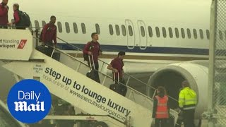 Liverpool's squad return home after Champions League final defeat