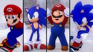 Evolution of Snowboard Cross in Mario & Sonic Series (2009 - 2018)