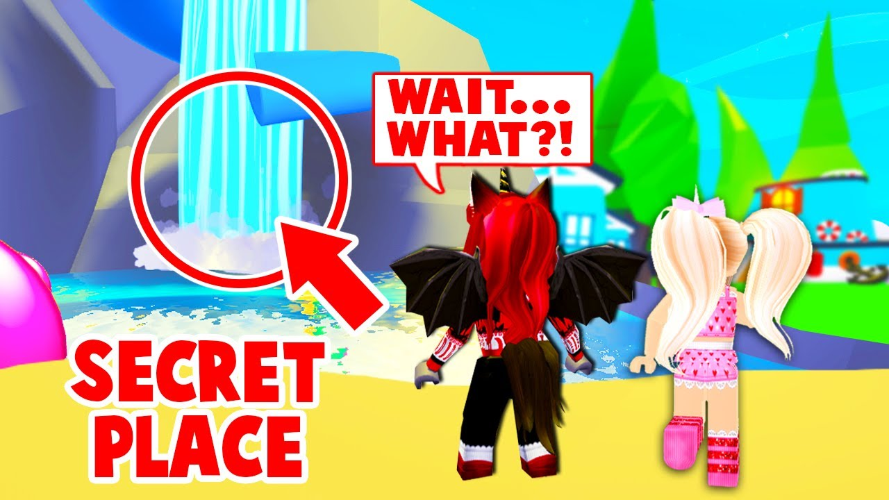 New SECRET Location Behind The WATERFALL Build With My Best Friend In Adopt Me! (Roblox)
