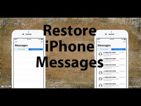 how to get deleted messages back on iphone x