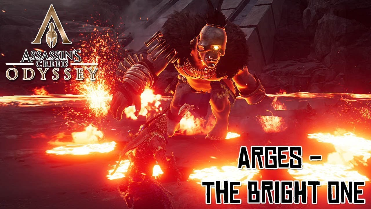 Assassin S Creed Odyssey Cyclops Arges Battle The Bright One