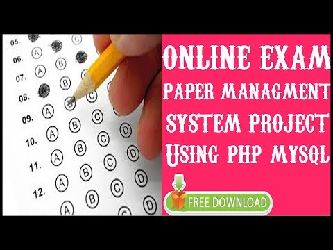 Online Exam Paper Management System Project In PHP | MYSQLI | HTML | CSS | Source Code Free Download