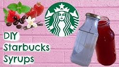 DIY Starbucks : 5 Syrups For Drinks