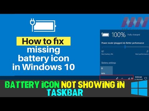 How to Fix Missing Battery Icon in Windows 10 Taskbar