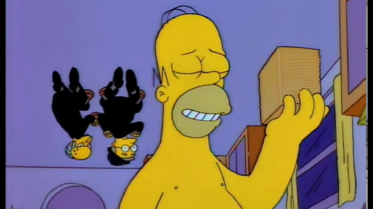 Homer 64 Slices Of American Cheese
