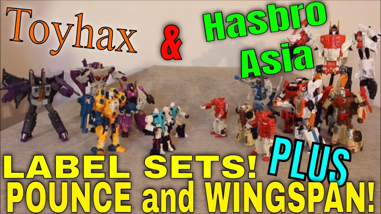 Stickers EVERYWHERE!: Toyhax, Hasbro Asia and a Look Back at Pounce and Wingspan! By GotBot