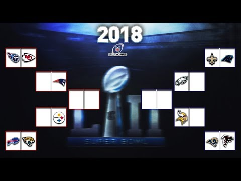 100% CORRECT 2018 NFL PLAYOFFS PREDICTIONS BRACKET! THE 2018 NFL SUPER BOWL WINNER IS .....