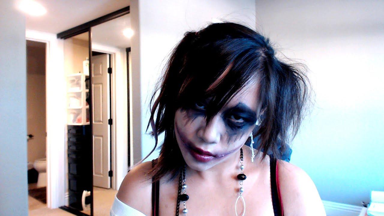 Halloween] Dark Clown/Jester (Harley Quinn Inspired) Makeup ...