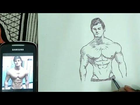 Drawing of Jeff Seid || Bodybuilder || Model