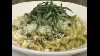 How To Make Spicy Clam Linguine With Basil And Cilantro Salsa With Amelia Ceja
