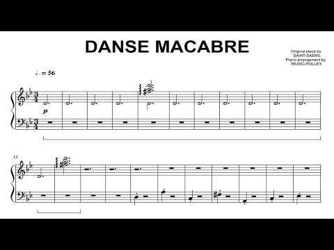 Saint-Saëns - Danse macabre (easy piano sheet)