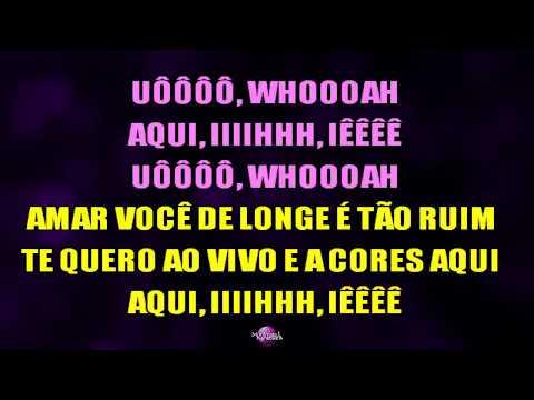 AO VIVO E A CORES Karaoke  - Matheus e Kauan & Anitta
