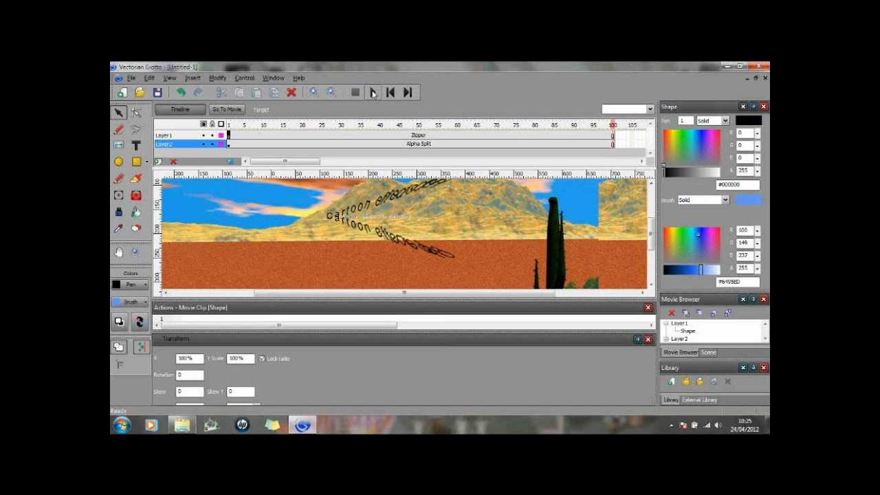 Create flash animation without adobe flash with vectorian giotto.