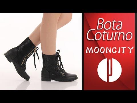 83d35a80e Bota Coturno Mooncity 74904 - Preto - 6010365412 - YouTube
