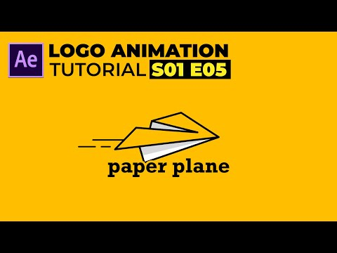 Paper Plane Logo Animation in After Effects Tutorial | Simple Logo Animation | S01 E05
