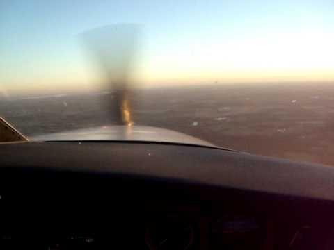 Piper malibu N26PG perfect Texas Flying Weather - YouTube