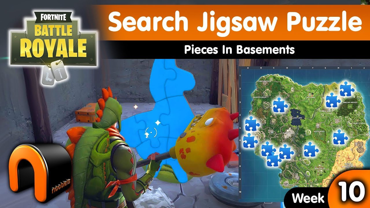 search jigsaw puzzle pieces in basements fortnite jigsaw puzzle locations week 10 challenge - search jigsaw puzzle fortnite
