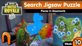 Search Jigsaw Puzzle Pieces In Basements FORTNITE, Jigsaw Puzzle Locations Week 10 Challenge