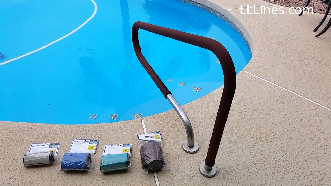 Osi outdoor solutions inc handrail covers youtube - Removable swimming pool handrails ...