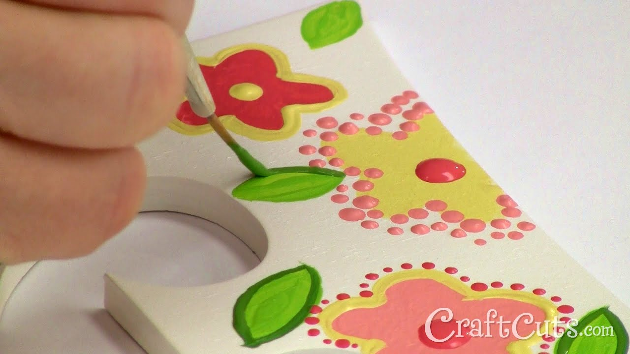 how to paint daisies on wood letters
