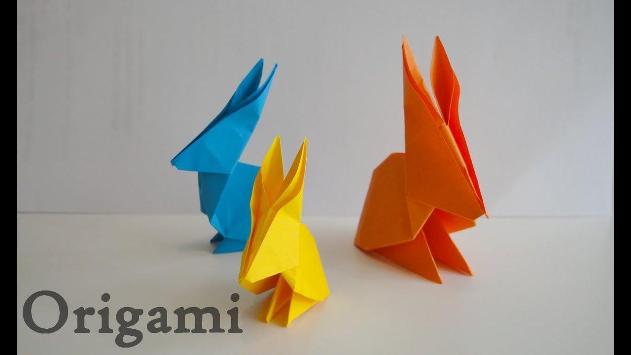 tuto origami lapin rabbit diy youtube. Black Bedroom Furniture Sets. Home Design Ideas