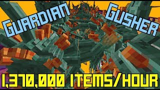 Guardian Gusher! (1,370,000 items/hr) | 1.13-1.16.2+ Minecraft