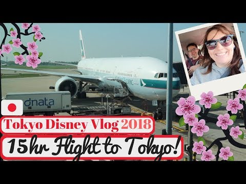 Tokyo Disneyland Vlog 2018   15 Hour Flight to Tokyo   KrispySmore Travel Day